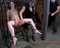 Poor dirty slut wife with ruined twat is toyed by her bitch goddess