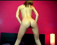Stunning and skinny white dirty slut wife on web camera shows her flexibility