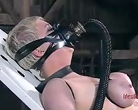 Luscious blond acquires anal fucked in a hot BDSM movie scene