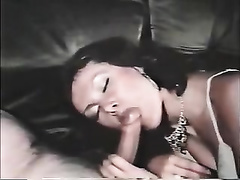 Hungry dark brown milf with hairy poontang rides a dick
