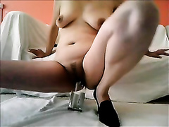 I love to stretch my vagina with a bottle when I am feeling lewd