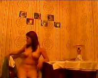 Hot chick acquires a bit drunk and disrobe dances for her ex