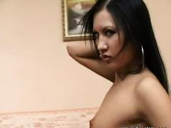 Mesmerizing Thai hoe in lustful underware not fast undresses on cam