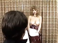 Busty golden-haired head sex pot got enticed on indecent minded casting
