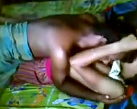 Amateur Indian pair team fuck in the missionary position