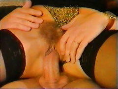 Slutty and perverted milf loved to engulf that big cock