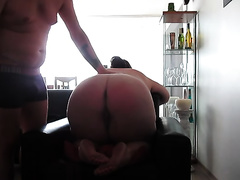 My corpulent ass GF has been a very wicked girl and I am plan to spank her hard