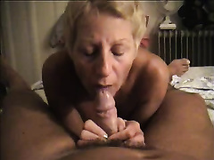 Salacious aged blonde sucks my boner in astounding POV movie scene