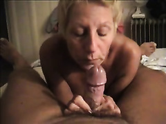 Salacious aged blonde sucks my boner in astounding POV movie scene