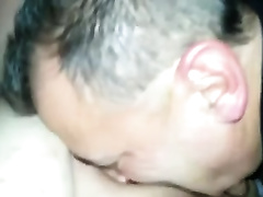 Massaging my chubby wife's powerful coochie with my face