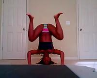 Ebony hawt juvenile floozy stripteases and dances on web camera