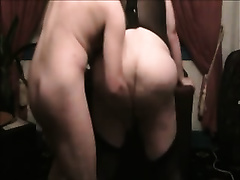 My chubby dirty slut wife wearing corset lets me finger her fur pie to big O