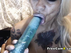 Huge Black Ass and Tits going Hardcore on Cam