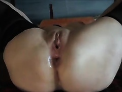 Fisting and fucking my girlfriend's love holes at the same time