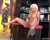 This insanely slutty GILF sucks way more excellent than any other bitch