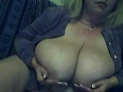 Lustful older woman is very proud of her huge mambos