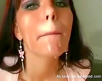 Kinky Euro sweetheart receives screwed in a public stairway in her face hole