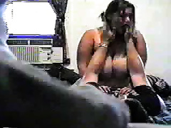 White big beautiful woman honey with large scoops romps on my rod on hidden webcam