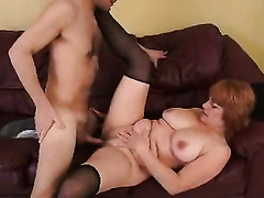Tubby redhead mama acquires her love tunnel licked and screwed hard