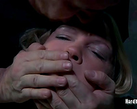 Super lustful blond with tattoos receives the torture that babe merits