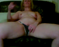 Stacked and thick golden-haired milf Married slut disrobes and caresses herself