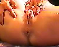 White milf wife masturbates to warm up for sex with a dark guy