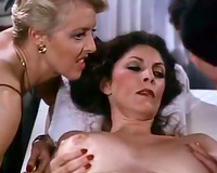 Hot dark brown white wife enjoys full body massage from a golden-haired playgirl