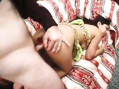 Insatiable Indian floozy receives her thirsting asshole drilled form behind