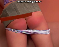 Lusty cutie with pigtails acquires spanked by her teacher