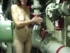 Hot movie with my older dark brown Married slut stripping at her work place