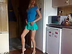 Filmed myself in the kitchen performing non-professional striptease