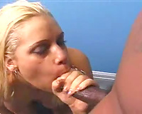 Blonde wife plays with her large natural billibongs