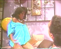 Retro porn with a large titties dark tease