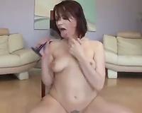 Dana DeArmond drinks down sexy cum