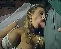Horny bride cheating on her husband – interracial sex