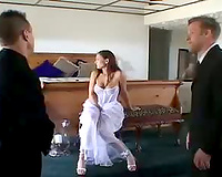 Slutty bride loves to take lots of Big Cock