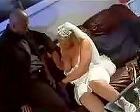 Hot pregnant bride fucks black cock - interracial porn