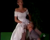 Blonde bride first interracial gangbang – porn video