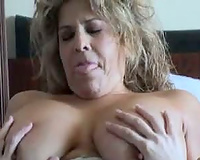See a squirting dark babe in her own full movie scene