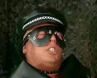 Black pornstar having leather fetish sex