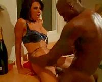 Awesomely hawt black cock sluts has interracial sex