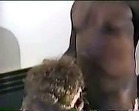 White swinging girl drilled by dark 10-Pounder