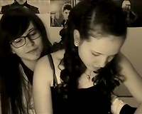Webcam episode with 2 legal age teenagers making out passionately