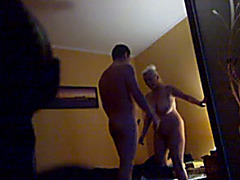 Hidden livecam sex clip with my aged concupiscent neighbour white lady