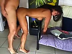 Big breasted Asian doxy cums faster when this babe is getting drilled from the back