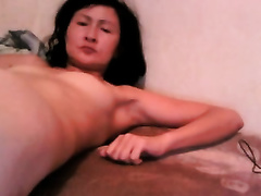 My Asian slim lustful girlfriend screwed with a bottle
