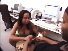 Ebony gal with large booty acquires screwed doggy style after sexy oral pleasure sex