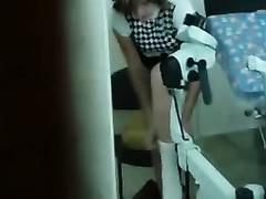 Hidden webcam with amateur Married slut getting her slit examined