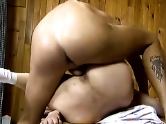 Mature slutty wife with fine ass team-fucked hard by horny chap