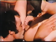 Two kinky sex hungry tarts greedily tease giant dick